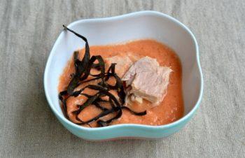 gazpacho con tonno cantabrico