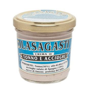 crema spalmabile tonno acciughe